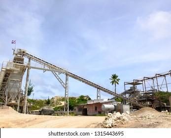 Phosphate mining site in Nauru (3rd smallest country in the world)