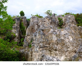 Phosphate rocks in Nauru (3rd smallest country in the world), South Pacific