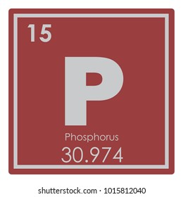 Phosphorus chemical element periodic table science symbol
