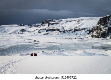 Phot of the amazing Eyjafjallajokull glacier in Iceland during winter