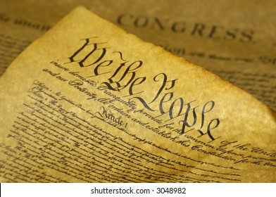 Phot of the US Constitution - We The People