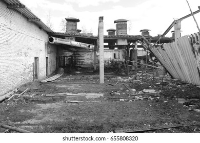 Photo from the abandoned camp, factory, village, farm.