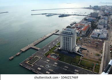 Photo aerial of the port of Veracruz, Mexico, January 20, 2013