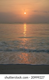 Photo of an african sunrise over the sea.