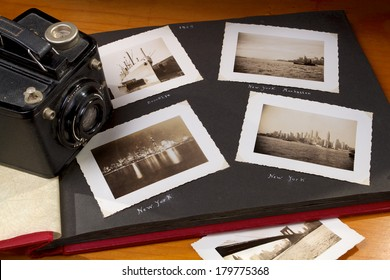 Photo Album with Nostalgic New York Photographs