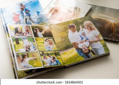 Photo album with photos of travel