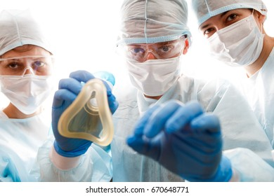 Photo of anesthetists with mask