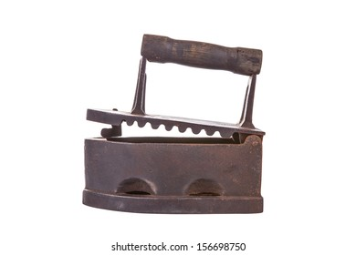 photo of antique charcoal powered iron