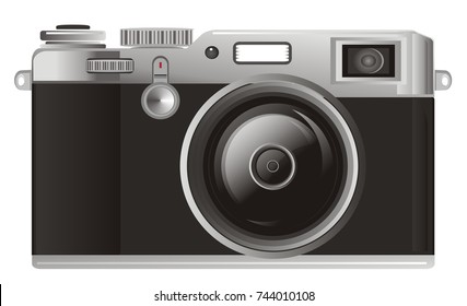 photo apparatus on a white background
