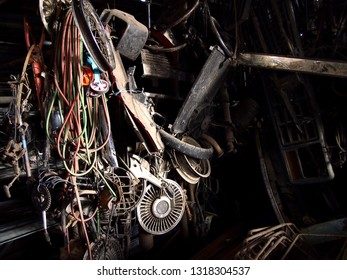 Photo of assorted scrap materials at a junkyard