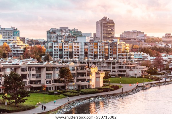 Photo of Autumn Sunset at False Creek in Vancouver, Canada
