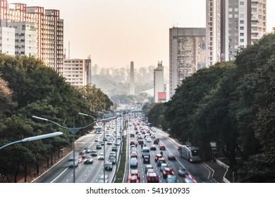 Photo of Avenue 23th of May (Avenida 23 de Maio) in Sao Paulo, Brazil