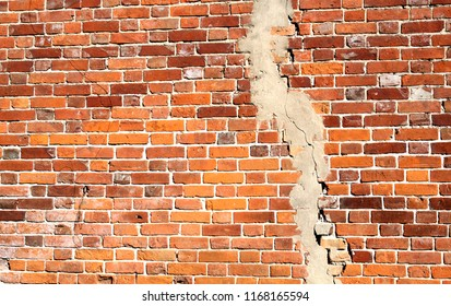 Photo background old with crack brick texture