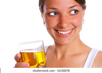 Photo of the beatifull woman with drink