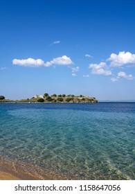 Photo of the beautiful beach on Sitonia, Chalkidiki region, Greece