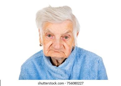 Photo of a beautiful happy senior woman face