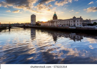 photo of a beautiful scenic irish cityscape of dublin