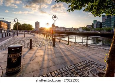 photo of a beautiful scenic irish cityscape of dublin