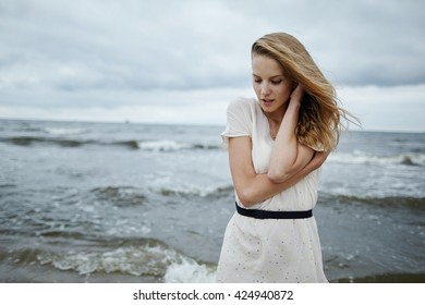 photo of beautiful sensual girl in water