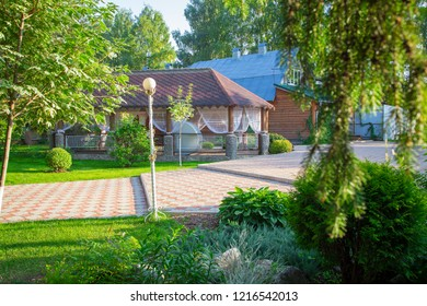Photo of the beautiful veranda during summer