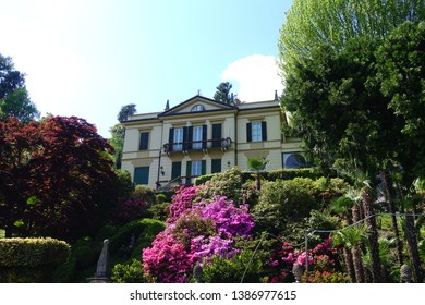 Photo from beautiful Villa Carlotta with iconic botanic gardens at spring, Lombardy, Italy