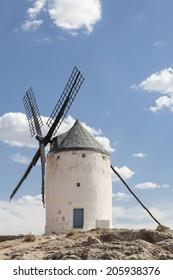 Photo of beautiful windmills in Consuegra, Toledo, Spain