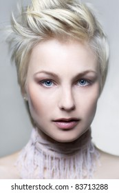 Photo of beautiful woman with blond hair