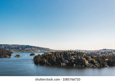 Photo of Belcarra view from Quarry Rock at North Vancouver, BC, Canada