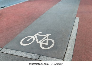 Photo Of Bicycle Lane Across The Road