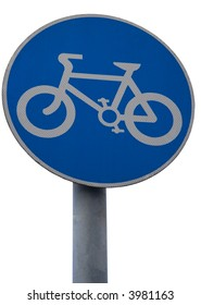 photo of the bicycle sign on the white background