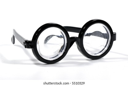 Photo of Black Rimmed Eyeglasses - Bifocals
