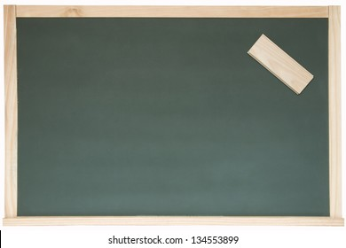 Photo of Blackboard and eraser