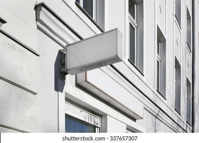 Photo blank signboard on the street