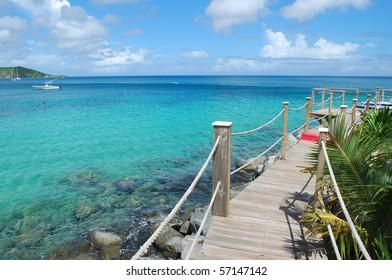 Photo of the blue ocean water, Saint-Martin Island