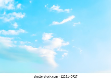 the photo Blue sky with white clouds.