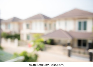 photo of blur housing estate