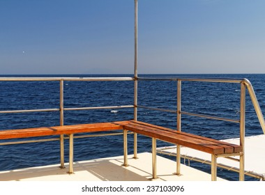 Photo of a boat deck on the sea