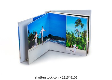 photo book with the couple in love
