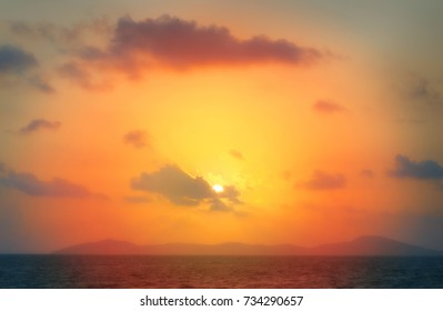 Photo bright beautiful sunset over the sea