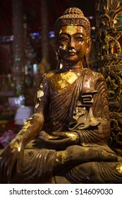 Photo Buddha inside Sri rong maung temple in lampang at Thailand. As a Temple Myanmar or Burmese.