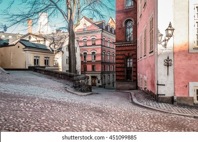 Photo of Buildings and Houses of Old Town (Gamla Stan) in Stockholm, Sweden
