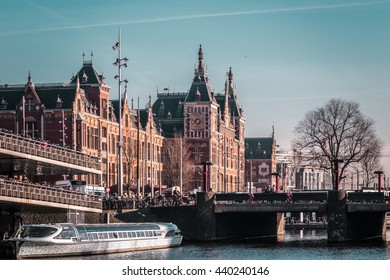 Photo of Buildings and Streets in Amsterdam, Netherlands
