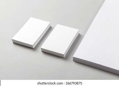 Photo of business card & part of the Letterhead. Mock-up for branding identity. For graphic designers presentations and portfolios