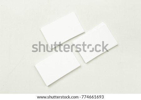 Photo Business Cards Stack Template Branding Stock Photo Edit Now