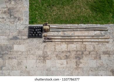 Photo of Cannonballs in Upper Barrakka Gardens, Valletta, Malta, Europe.