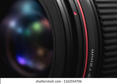 Photo of Canon Lens. Ekaterinburg, Russia - August 23, 2018
