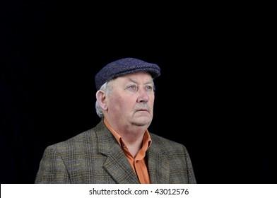 photo capture of a senior male portrait