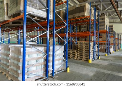 Photo of cardboard boxes, parcels in the warehouse