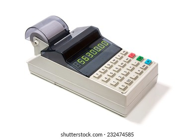 photo the cash register on a white background