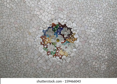 Photo of Ceramic Mosaic Pattern made in the late Summer time in Spain, 2013